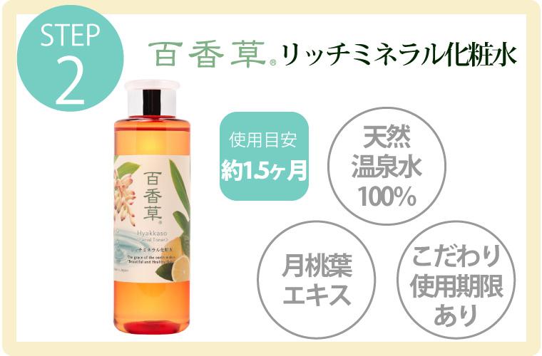 化粧水使用目安お試しセット、百香草、化粧水、美容液